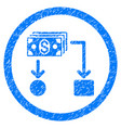 cashflow rounded grainy icon vector image vector image