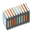 colorful books vector image