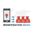 concept abstract monetization ideas vector image vector image
