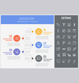 dentistry infographic template elements and icons vector image vector image