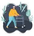 elderly man walking vector image