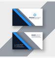 elegant blue professional business card template vector image vector image