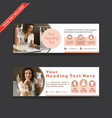 fashion design web banners vector image vector image