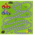 find winner of motor race vector image
