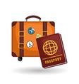 Flat of travel design vector image