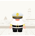 Funny Captain vector image vector image