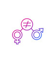 gender equity icon trendy line vector image vector image
