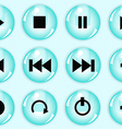 Glossy button set vector image