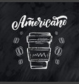 hand lettering ellement in sketch style for coffee vector image vector image