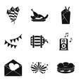 hangover icons set simple style vector image vector image