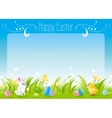 Happy Easter horizontal banner border Spring vector image