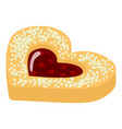heart cookie icon isometric style vector image vector image