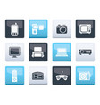 hi-tech technical equipment icons vector image vector image