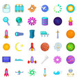 high tech icons set cartoon style vector image vector image