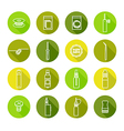 icons set of vaporizer and accessories vector image vector image