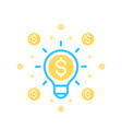 idea is money icon on white vector image vector image