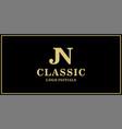 jn monogram classic logo design inspiration vector image vector image