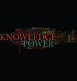 knowledge is not power text background word cloud vector image vector image
