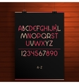 Latin alphabet on the wooden background vector image