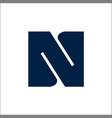 letter n logo designs initials n logo vector image vector image