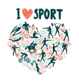 Love Sport Concept vector image