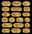 metal plates premium quality golden collection vector image vector image