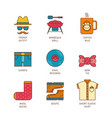 minimal lineart flat hipster iconset vector image vector image