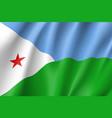 national flag of djibouti vector image