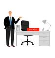 open vacancy concept vector image