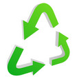 recycle arrow symbol icon with isolated on white vector image