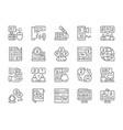 set language translation line icons education vector image vector image