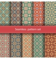 set of 10 seamless mosaic patterns Arabic vector image