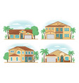 set of frontview of usa arizona style suburban vector image vector image