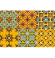 Set of oriental style seamless ornaments vector image vector image