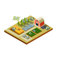 smart farm buildings big household agriculture vector image vector image