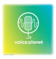 Sound voice planet green wave symbol logo vector image vector image