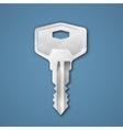 Steel key vector image vector image