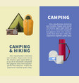 summer camping club or camping posters vector image