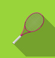 tennis racquet with long shadow vector image vector image