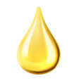 transparent oil drop vector image