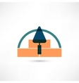 trowel icon vector image vector image