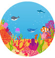 underwater world animal cartoon vector image vector image