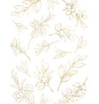 watercolor card golden flowers and vector image vector image
