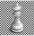 white queen chess piece in isometric vector image vector image