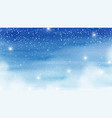 winter christmas card with snowfalls sparkle vector image