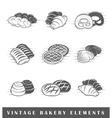 Retro bakery elements vector image