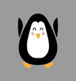 with penguin in flat style vector image