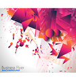 abstract background with shapes explosion vector image vector image