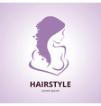 Abstract logo a stylized profile of a women vector image vector image