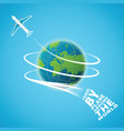 air travel around the world concept vector image vector image